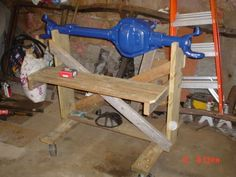 Axle Stand and Dolly by jeepgif -- Homemade axle stand and dolly constructed from wood. Caster-mounted for enhanced mobility. http://www.homemadetools.net/homemade-axle-stand-and-dolly-2