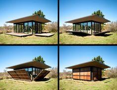 Esta cabaña – diseñada por Olson Kundig Architects – tiene 150 m2 cuadrados y sirve como refugio de escritores o casa para invitados. Los...