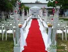 Aluguel Decoração Corredor Casamento Ao Ar Livre