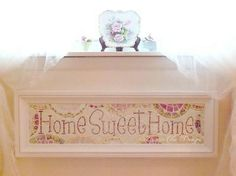 Home~Sweet~Home vintage china mosaic sign by Mosaic Chick Design https://www.facebook.com/pages/Mosaic-Chick-Design/216734331705852?ref=hl