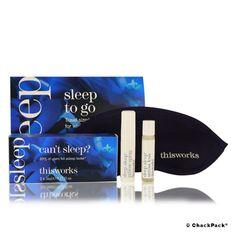 Das Sleep To Go Set beinhaltet eine Schlafmaske, um auch in helleren Umgebungen einen tiefen, ungestörten Schlaf zu ermöglichen. Das Deep Sleep Pillow Spray sorgt mit ätherischen Ölen aus Lavendel, Kamille und Vetiver für innere Ruhe und einen erholsamen Schlaf. Durch Eukalyptus- und Weihrauch-Öl hilft der Deep Sleep Stress Less Roll-on im hektischen Alltag zu entspannen und tief durchzuatmen.