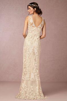 Wedding Dresses   Vintage & Simple Wedding Gowns   BHLDN