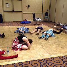 Tired Highland dancers. #usir2015