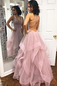 Blush Pink Ruffles Ball Gown Criss-Cross Backless Prom Dresses V-neck Long Prom . - Blush Pink Ruffles Ball Gown Criss-Cross Backless Prom Dresses V-neck Long Prom Dress Tulle Evening Dress Formal Gowns Hot Prom Gowns – Source by - Prom Dresses Long Pink, Straps Prom Dresses, Backless Prom Dresses, A Line Prom Dresses, Tulle Prom Dress, Homecoming Dresses, Prom Gowns, Maxi Dresses, Wedding Dresses