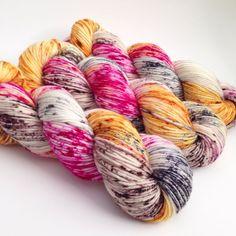 Hand Dyed Yarn Sly Fox Superwash Merino DK by aVividYarnStudio