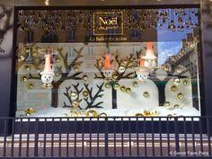 Holiday windows at Le Bon Marché