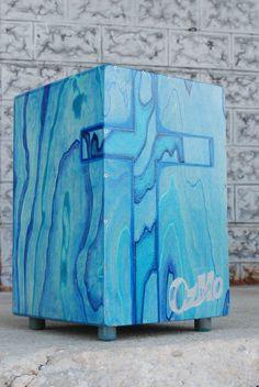 OzMo Cajon Drum Hand Made Hand Painted Cajon Drum by OzMoDrum