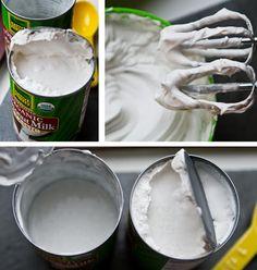 How-to Make Whipped Coconut Milk Cream . .. . .. .. vegan-coconut-cream-how-to