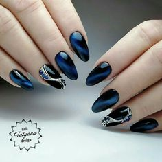 You own the powerful look and your blue nails will add to your personality strength. You can add beauty on your nails with Cute Dark Blue Nail Designs. Blue Nail Designs, Acrylic Nail Designs, Acrylic Nails, Fabulous Nails, Gorgeous Nails, Types Of Fake Nails, Cute Nails, Pretty Nails, Hair And Nails