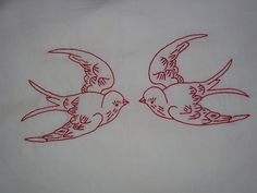 Redwork Pillowcases by libbydillard, via Flickr