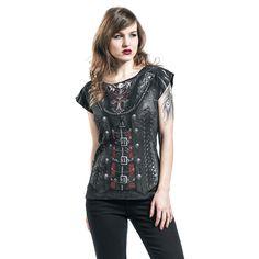 """Maglietta donna a maniche corte """"Gothess Wrap"""" del brand #Spiral."""