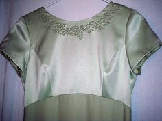 """Fabulous Pastel Green Beaded Gown by Liz Claiborne Night Fits up to 40"""" Bust Siz $19.00"""