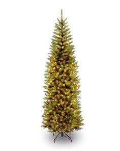 national tree 7 12 kingswood fir pencil tree hinged 350 clear amazoncom gki bethlehem lighting pre lit