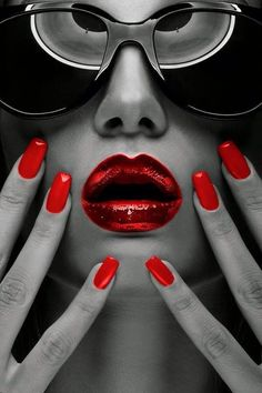 Red Hot nails and lips #Luxurydotcom