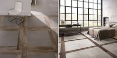 Mixing Wood Effect Tiles With Cement Tiles