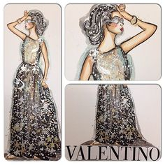 Fashion Illustration by Susan Chung Valentino Pre-Fall 2015 https://www.facebook.com/pages/Susan-Chung-Illustrations/331104350407447?ref=hl Instagram: @susanchungfashion