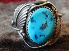 size 10 turquoise Navajo Native American ring Native American jewelry southwest jewelry  sterling estate jewelry vintage turquoise Texas by LittleCherokeeValley on Etsy