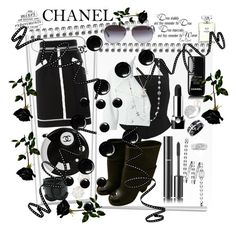 """""""Black&White 🐼"""" by seanahr ❤ liked on Polyvore featuring Chanel, Marc Jacobs and Kate Spade"""