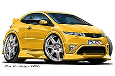 Car Vector, Automotive Art, Diecast, Cool Cars, Cars Toons, Honda, Classic Cars, Design Cars, Vehicles