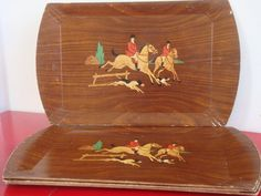 Vintage Hasko Fox Hunt Lap Trays Set of 4 by PlayfullyVintage
