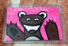 Ferret Wave -For Sale $10 Includes US Shipping - by TheFlyinFerret.deviantart.com on @DeviantArt Art Cards, Mini Paintings, Us Shipping, Ferret, Waves, Deviantart, Fictional Characters, Ferrets, Ocean Waves