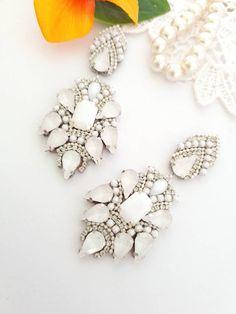 Rhinestone Earrings, Boho Earrings, Chandelier Earrings, Statement Earrings, Bridesmaid Earrings, Wedding Earrings, Bridesmaid Gifts, Handmade Jewellery, Earrings Handmade