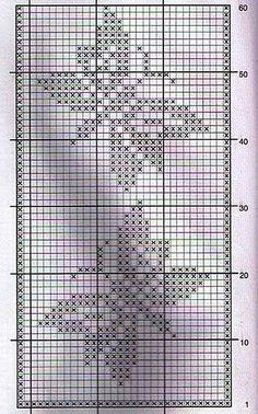 Filet crochet runner or throw rug pattern diagram Crochet Curtains, Tapestry Crochet, Crochet Motif, Crochet Doilies, Knit Crochet, Crochet Fall, Butterfly Cross Stitch, Crochet Butterfly, Butterfly Pattern