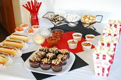cute food blog.  fun way to set up snacks for a real girls night
