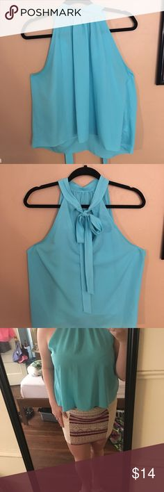 Chiffon High-Neck Blouse Beautiful high-neck blouse- looks great on its own or under blazers! Such a beautiful color for blondes and brunettes 😍 xoxox Bisou Bisou Tops