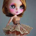 Peach/purple Ballerina Style Dress by Trio Blythe