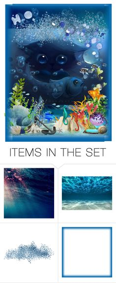 """""""Here Fishy Fishy Fishy - H2O Contest"""" by aurorasblueheaven ❤ liked on Polyvore featuring art"""