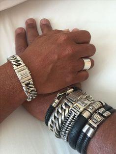 Jewelry Accessories, Fashion Accessories, Fashion Jewelry, Leather Jewelry, Metal Jewelry, Silver Bracelets, Bracelets For Men, Silver Man, Leather Men