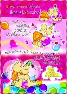 ... te deseo el mejor cumpleaños y toda la felicidad del mundo. Te Amo. Love Images, Funny Images, Birthday Greetings, Birthday Cards, Happy Wishes, Happy Birthday Images, Happy B Day, Birthday Quotes, Special Day