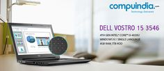 Power packed performance,sharper visuals and a 10 key numeric pad that supports faster input on the #Dell #Vostro 15 3546!! Buy now on www.compuindia.com/laptops-ultrabooks/dell-vostro-laptops/dell-vostro-3546-4th-gen-i3-4030u-laptop-7723.html