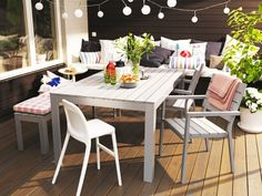 Kungsholmen loungekombination i svart st ngby pinterest patios balconies and backyard - Askholmen tavolo ikea ...