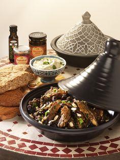 Lamb Tagine Maghreb: A classic tajine with lamb, prunes and almonds.