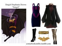 Batgirl/Stephanie Brown Necklace Belt Boots Tights Cape Dress