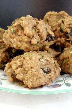 """Spicy Zucchini Oatmeal Cookies 
