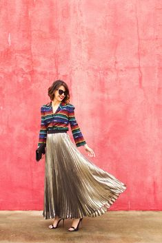 Holiday party must-have : metallic pleated skirt! Shop the best ones at every price point.