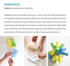 One Charming Party | Birthday Party Ideas › water party: sponge ball tutorial