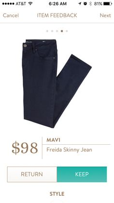 Mavi Freida Skinny Jean  I love Stitch Fix! Personalized styling service and it's amazing!! Fill out a style profile with sizing and preferences. Then your very own stylist selects 5 pieces to send to you to try out at home. Keep what you love and return what you don't. Try it out using the link! #stitchfix @stitchfix https://www.stitchfix.com/referral/5634870