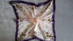 New Women Fashion Gorgeous Elegant Square Silk Scarf Shawl Wrap 50cm x 50cm #Handmade