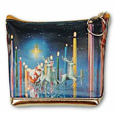 3D Lenticular Coin Purse Bag Christmas Santa Claus Reindeer Candles #I-214-Pavia from Lantor Ltd., $9.95: Compact, but big enough to keep all your essentials together. constructed with soft Lenticular PVC and with a lined interior. features a 3D image of Santa Claus reigning white reindeer through a hallway of spectacular candles at night. measures 5 inch. X 4 inch. x 1.5 inch. Click here to purchase…