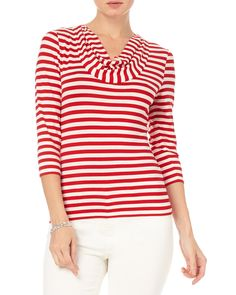 All New Arrivals | Red Carrie Stripe Top | Phase Eight