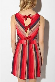 UrbanOutfitters.com > Cooperative Printed Bow-Tieback Dress - StyleSays