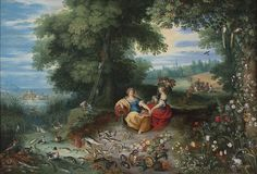 Jan Brueghel the Younger (Flemish, Frans Francken the Younger (Flemish, An Allegory of Water and Earth. Water Poster, Famous Art, Old Master, Custom Posters, Detailed Image, Artwork Design, Oeuvre D'art, Watercolor Paper, Les Oeuvres