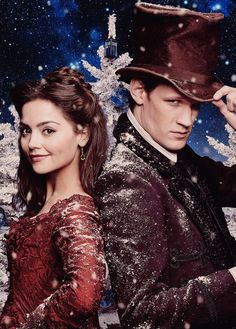 Matt Smith as the Eleventh Doctor, with Jenna-Louise Coleman as Clara Oswin Oswald Undécimo Doctor, Doctor Who Clara, Eleventh Doctor, Geronimo, Doctor Who Wallpaper, Tardis Wallpaper, Crossover, Best Sci Fi Shows, Ange Demon