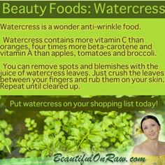 Watercress is a superfood that is both anti-aging and anticancer.  Rediscover this wonderful spicy often overlooked green