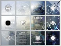 Square brochure template design by VectorShop on Creative Market