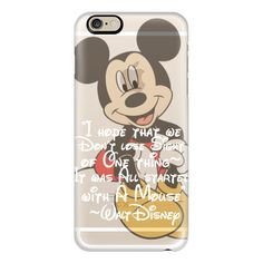 iPhone 6 Plus/6/5/5s/5c Case - Walt Disney It All Started With a Mouse... ($40) ❤ liked on Polyvore featuring accessories, tech accessories, phone cases, iphone case, iphone cover case, apple iphone cases and slim iphone case